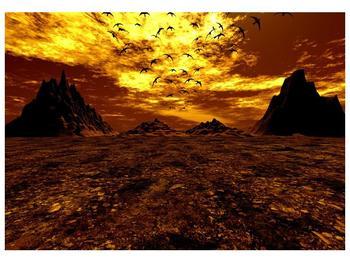 Obraz vyprahlého údolí (F000287F10070)