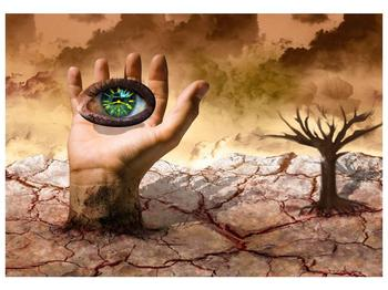 Obraz oka na dlaňi (F001485F10070)