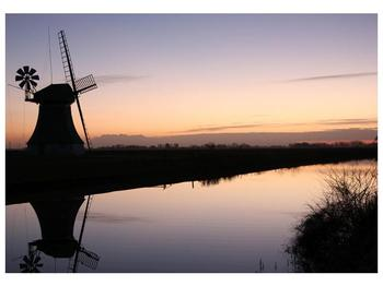 Obraz rybníku u mlýna (F001556F10070)