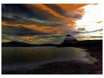 Obraz moře v temné obloze (F001564F10070)