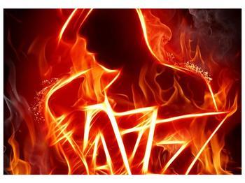 Obraz ohnivé postavy (F001691F10070)