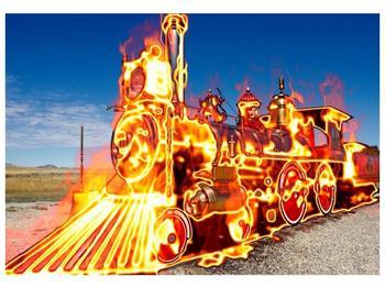 Obraz ohnivé lokomotivy (F001696F10070)