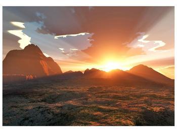 Obraz západu slunce nad horama (F001700F10070)