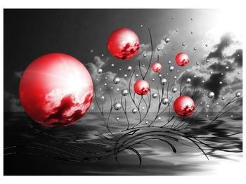 Moderní obraz - červené koule (F002086F10070)
