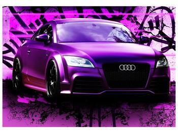 Obraz fialové Audi (F002349F10070)