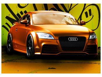 Obraz oranžové Audi (F002351F10070)
