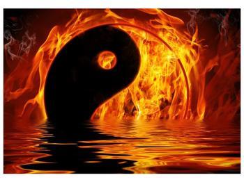 Obraz hořícího Jin Jangu  (F002885F10070)