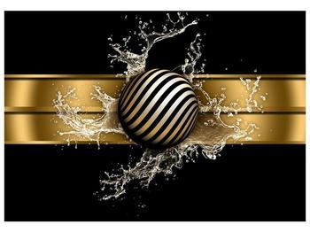 Obraz pruhované koule a vody (F004116F10070)
