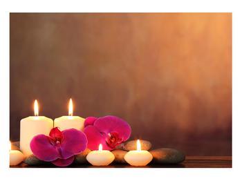 Tablou relaxant cu lumănâri și orhidee (K011120K10070)