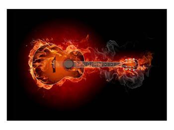 Lángoló gitár képe (K011168K10070)