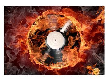 Tablou cu placă de gramofon în foc (K011171K10070)