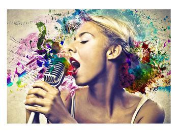 Énekesnő modern kép (K011273K10070)