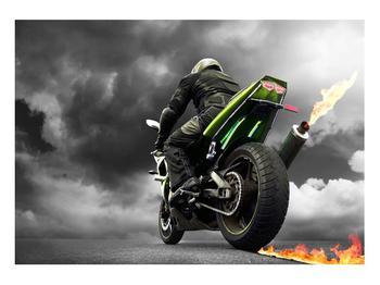 Tablou cu motociclist pe motocicletă (K011383K10070)