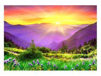 Obraz horské krajiny s východem slunce (K011873K10070)