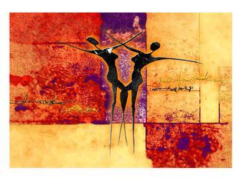 Tablou abstract cu doi dansatori (K011975K10070)