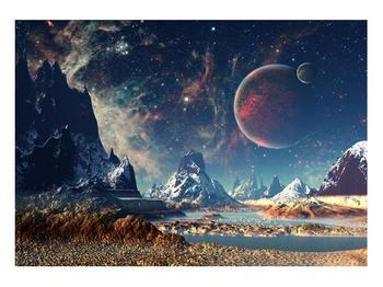 Tablou cu peisaj montan cu planete (K012168K10070)