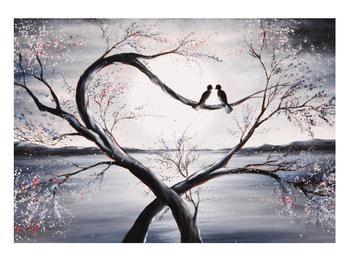 Tablou cu păsări îndrăgostite (K012516K10070)