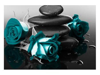 Tablou cu trandafiri albastre (K012553K10070)