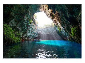 Obraz jeskyně s vodní plochou (K012667K10070)