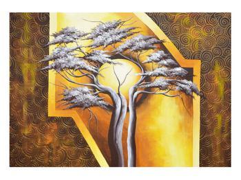 Orientální obraz stromu a slunce (K014067K10070)