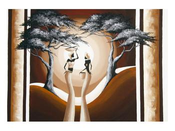 Orientální obraz dvou žen a stromu  (K014682K10070)