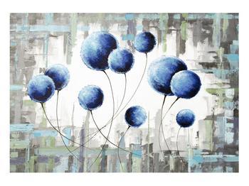 Abstraktní obraz - modré balónky (K014707K10070)