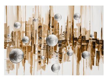 Abstraktní obraz - město (K014743K10070)