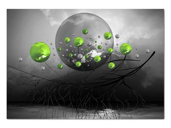 Obraz zelených abstraktných gulí (V020103V10070)