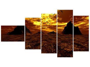 Obraz vyprahlého údolí (F000287F11060)