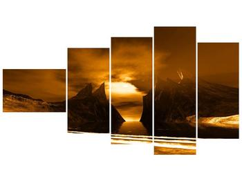 Obraz skály a pláže (F000300F11060)