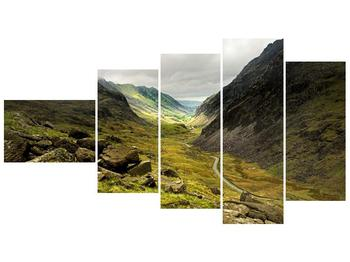 Obraz cesty uprostřed hor (F000621F11060)