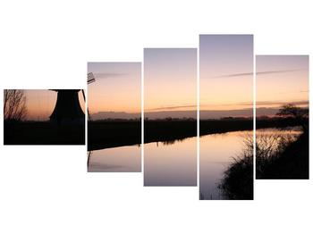 Obraz rybníku u mlýna (F001556F11060)