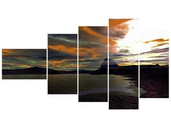 Obraz moře v temné obloze (F001564F11060)
