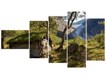 Obraz horské chatrče (F001636F11060)