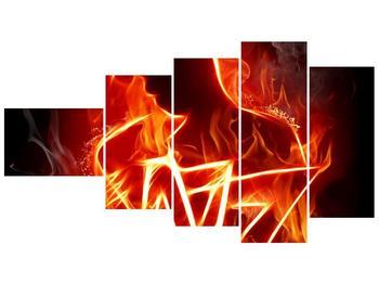 Obraz ohnivé postavy (F001691F11060)
