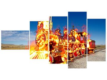 Obraz ohnivé lokomotivy (F001696F11060)