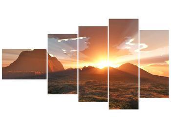 Obraz západu slunce nad horama (F001700F11060)