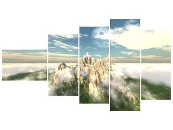 Obraz zasněžených vrcholů skal (F001715F11060)