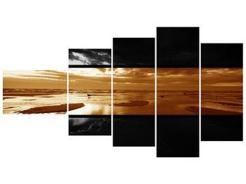Dvroubarevný obraz moře (F001957F11060)