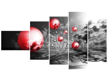 Moderní obraz - červené koule (F002086F11060)