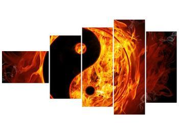Obraz hořícího jin jang (F002309F11060)