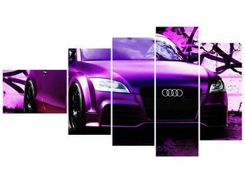 Obraz fialové Audi (F002349F11060)