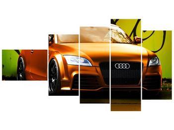 Obraz oranžové Audi (F002351F11060)