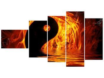 Obraz hořícího Jin Jangu  (F002885F11060)