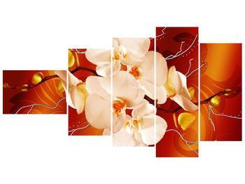 Obraz bílých orchidejí (F005694F11060)