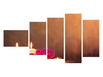 Tablou relaxant cu lumănâri și orhidee (K011120K11060)