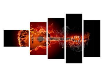 Lángoló gitár képe (K011168K11060)