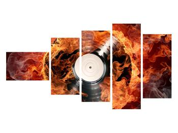 Tablou cu placă de gramofon în foc (K011171K11060)