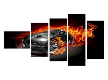 Tablou cu mașina arzând (K011174K11060)