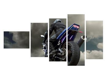 Tablou cu motociclist cu motocicletă (K011302K11060)